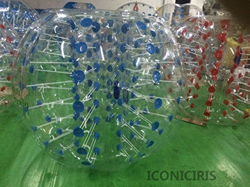 Free Shipping Inflatable Bumper Bubble Balls Body Zorb Ball Soccer Bumper Football 1.5m Transparency with Blue Dot by iconiciris thumbnail