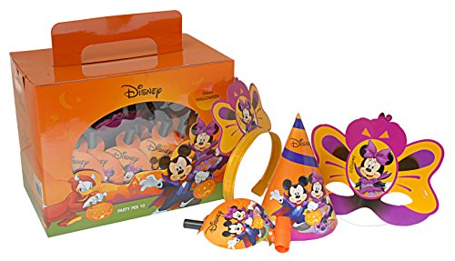Box Disney Halloween Mickey und Minnie für 10 Personen, Orange ()