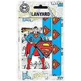 Superman Porta chiavi a nastro ufficiale (Taglia unica) (Rosso/Blu/Giallo)