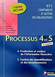 Processus 4 et 5 - Production et analyse de l'information financières / Gestion des immobilisations et des investissements - BTS CGO 1re année