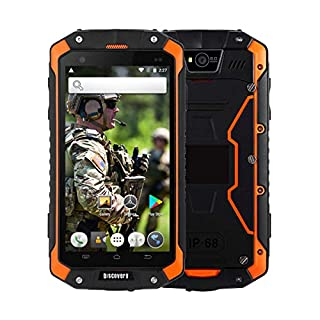 Rugged Smartphone,Discovery V9 Dual SIM 3G Unlocked Mobilephone IP67 Waterproof Dustproof Shockproof 4000mAh Big Battery 1GB RAM+8GB ROM 4.5 Inch HD Touch Screen UK Local Stock with 2 days delivery