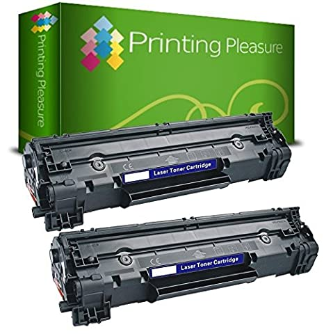 PRINTING PLEASURE Twin-Pack CF283A / 83A Black Compatible Toner Cartridges for use in HP Laserjet Pro M201dw, M201n, M202dw, M202n, MFP M125a, M125nw, M125rnw, M125m, M126a, M126nw, M127fn, M127fp, M127fw, M128fn, M128fp, M128fw, M225dn, M225dw