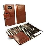 Alston Craig I7_46 Vintage Echt Leder Hülle Tasche Kartenfach Backcover Für Samsung Galaxy Note 8 - Braun