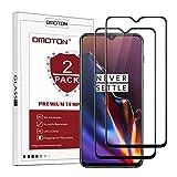 OMOTON Compatibile con Oneplus 6T Pellicola Protettiva in Vetro Temperato - Full Coverage - Durezza 9H - Anti-Graffi - Nessuna Bolla - Nero...