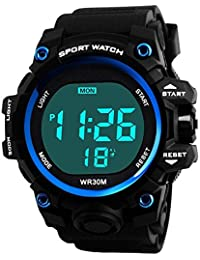 Honhx Black Dial Mens Watches Men Mens Watch Sport Digital Watches For Men And Boys - I066