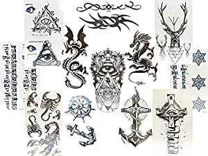 12 kleine b gen schwarze fake tattoos f r m nner drachen illuminati anker tribal und mehr. Black Bedroom Furniture Sets. Home Design Ideas
