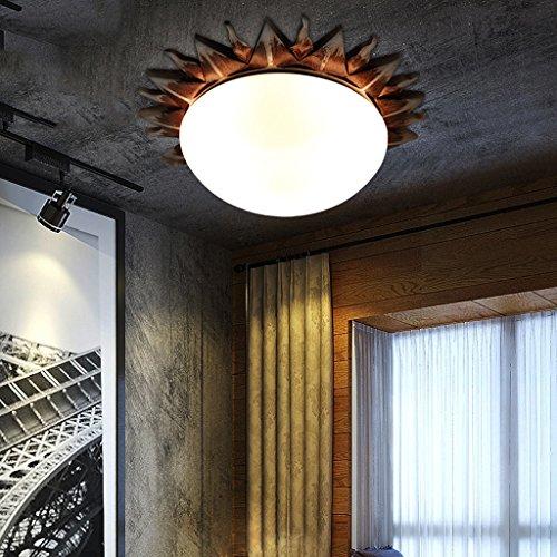 MLMHLMR American Retro lámpara de Techo de Resina Solar Dormitorio Sala de Estar Restaurante Bar Entrada Pasillo lámparas Romanas Luz de Techo