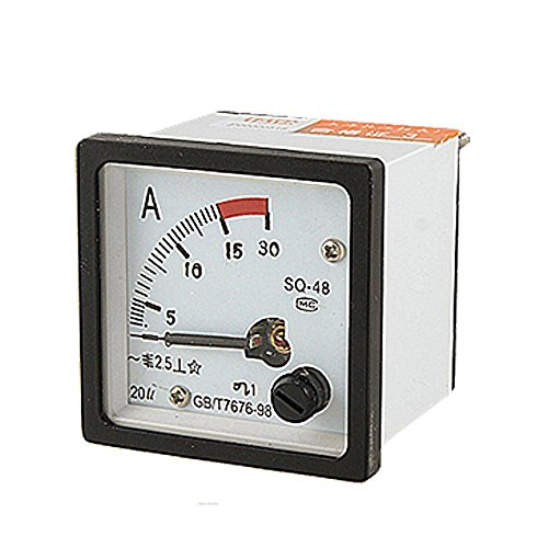 Nrpfell SQ48 Analog AC Current Panel Meter Amperemeter 0-15A Gauge Weiss+Schwarz Current Meter Amperemeter