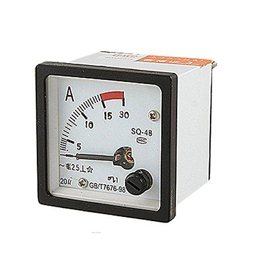 Nrpfell SQ48 Analog AC Current Panel Meter Amperemeter 0-15A Gauge Weiss+Schwarz -