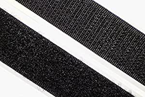 dalipo 18003 - Klettband selbstklebend - Farbe: schwarz - Breite: 20 mm