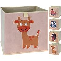 Faltbare Aufbewahrungsbox mit Tiermotiven | 4er Set preisvergleich bei kinderzimmerdekopreise.eu