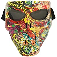 Vhccirt - Máscara Protectora para Motocicleta, Gafas de esquí polarizadas, máscara de Halloween Cos