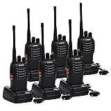 Funkprofi Walkie Talkie, Baofeng BS-888S Wireless Professionelle Funkgeräte Set 16 Kanäle Reichweite 5 km Hand-Funkgerät CTCSS/DCS Rauschsperre 400-470 MHz mit Desktop Ladegerät 3 Paar (mit Kopfhörer)
