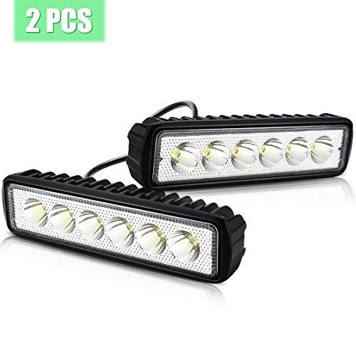 Arbeitsscheinwerfer, AMBOTHER LED Zusatzscheinwerfer 6 Inch Arbeitsleuchte Flutlicht Worklight Arbeitslicht 5050 SMD 1600LM IP67 18W 2 Stück