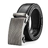 MUCO Cinturón de cuero para hombres, simple y duradero, con hebilla automática