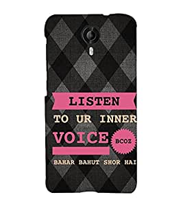 EPICCASE listen to your inner voice Mobile Back Case Cover For Micromax Canvas Nitro 4G E455 (Designer Case)