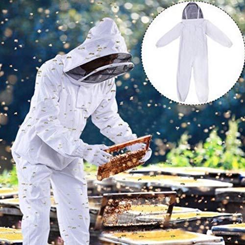 soundwinds Bee Suit Bienenzucht Anzug Mantel Baumwolle verdickte Jacke mit klarem Fechten Schleier Einteilige Anti-Biene Kleidung -