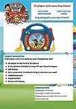Lexibook Paw Patrol La Pat\'Patrouille Chase Lecteur CD pour enfant avec 2 microphones jouets, prise écouteurs, à piles, Bleu/Rouge, RCDK100PA