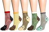 FULIER Frauen Mädchen Lustige Niedlichen Tier Design Baumwolle Reiche Socken, Komfortable, Atmungsaktiv, UK4-7 (Katze)
