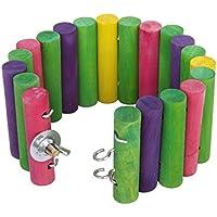 ivebetter madera Escalera colorido puente mascotas juego juguete para hamster/Jerbo/Ratones/rata/Little Parrot (6* 30cm)