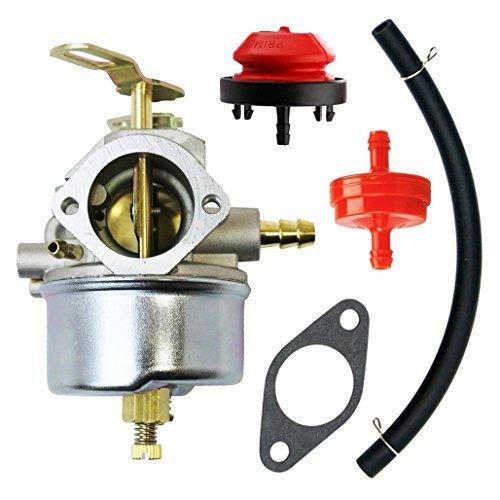 QAZAKY Vergaser mit Passepartout Dichtung Kraftstoff Filte Primerpumpe Fuel Line für John Deere Snow Gebläse 526726732826826D 828D 83210321032d Schneefräse Carb