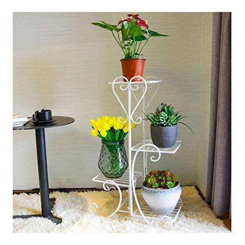 Xin® fioriera stand, espositore multi-strato da salotto in ferro fioriera da balcone mensola da esposizione per interni ed esterni con fiori in stile europeo (colore : bianca)