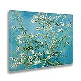 Giallobus - Quadro - Vincent Van Gogh - Fiori di mandorlo - Stampa su Tela Canvas - Pronto da Appendere - Vari Formati - 140x100 cm
