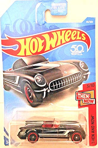 Hot Wheels 2018 50th Anniversary Then and Now '55 Corvette 45/365, Black