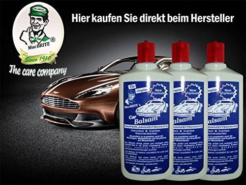 MacBrite HERBSTANGEBOT 3 Flaschen Car Balsam je 0.5 Ltr.
