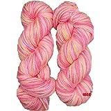 Oswal Knitting Yarn Wool, Multi Orange 200 gm Woolen Crochet Yarn Thread. Best Used with Knitting Needles, Crochet Needles. Wool Yarn for Knitting. Best Woolen Thread.