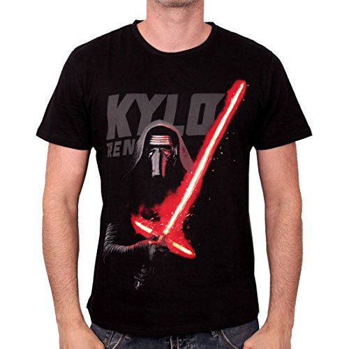 Star Wars VII - The Force Awakens - Kylo Ren Laser Sith Revival Black  Schwarz T