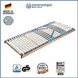 RAVENSBERGER MEDITOP 30-Leisten-Buche-Lattenrahmen | 5-Zonen-Buche-Lattenrahmen | Starr | MADE IN GERMANY - 10 JAHRE GARANTIE | TÜV/GS+LGA/QS - zertifiziert 80x200 cm