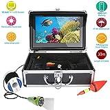 HONGSHENG Kit de cámara de Video para Pesca submarina con Monitor de Color de 10 Pulgadas 50M 1000TVL 6 Luces LED de PCS