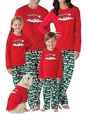 RAISERVEN Mujer Hombre Familia de Navidad a Juego Set de árbol de Manga Larga Pijama de Dormir Top Pantalones...