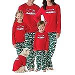 chicolife Famiglia Albero di Natale di Corrispondenza Impostare Manica Lunga Pigiama Top Pantaloni Pigiami per Bambini di Famiglia papà Mamma