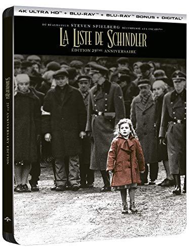 La Liste de Schindler [Édition 25ème anniversaire - 4K Ultra HD + Blu-ray + Blu-ray bonus + Digital - Boîtier SteelBook]