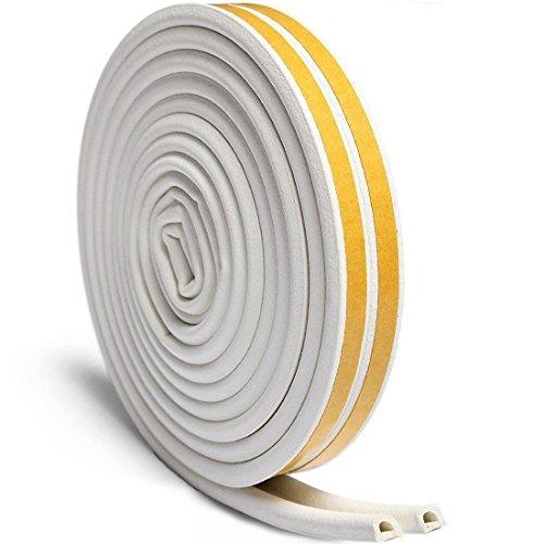 Selbstklebende streifen fenster, gummidichtung fenster für Zugluft Stopper Lücke Blocker und Wind Blocker, 3/8-inch x 1/4-inchx 10-Feet, 4 Dichtungen (weiß)