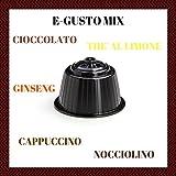 96 CAPSULE POP CAFFÈ E-GUSTO MIX BEVANDE SOLUBILI COMPATIBILI DOLCE GUSTO