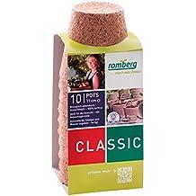 10x Macetas redondas de fibra de coco biodegradable Romberg Classic Pots (11cm)