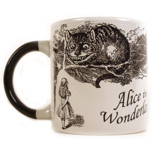 Tasse -Alice au pays des merveilles - chaleur réactive le chat disparaît .