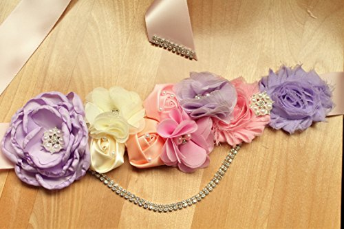 pink-and-purple-baby-girl-maternity-floral-satin-sash-with-sparkly-rhinestone-trim-60-inches-long-fo