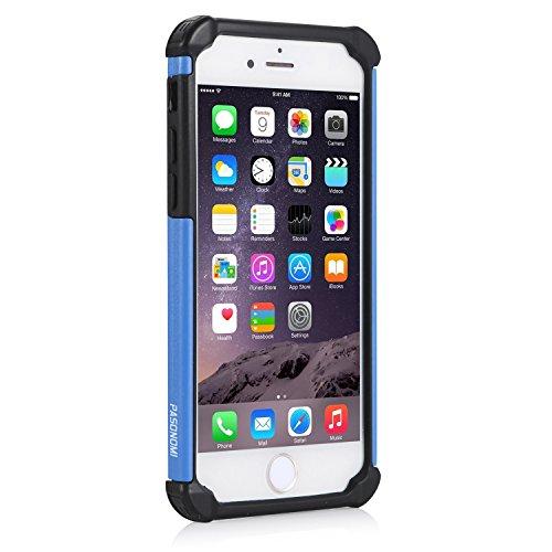 iPhone 6S Plus Hülle, iPhone 6 Plus Hülle, Pasonomi® Outdoor Stoßfest Weich Silikon Dual Layer Hybride Armor Hüllen Bumper Handy Tasche Cover Premium Etui für iPhone 6S Plus (2015) / iPhone 6 Plus (20 Blau