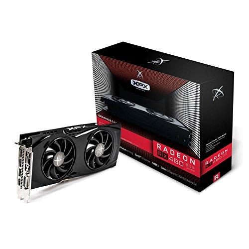 XFX RX-480P8DFA6 RX480 Grafikkarte (8GB, Speichertaktgeschwindigkeit: 2000)