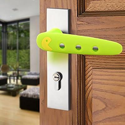 Baby Silicone Door Handle Anti - Collision Protection Suite Room Door Handle Pad Protective Sleeve Anti - Collision Sets Anti - Touch Sets - low-cost UK light store.
