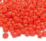 Perlin Lot de 10 000 Perles de rocailles Rondes en Verre Opaque Rouge 4 mm 6 000 pièces 6 x 0 Perles Rondes Perles, Perles Indiennes