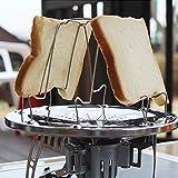 Edelstahl Tragbar Toast Rack Camp Herd Toaster zusammenklappbar Breakfast Sandwich für Outdoor Camping Biwak Picknick Aktivitäten Kochen Teller Wandern Brot Halter Tablett Langlebig Stoves KOMPAKT zusammenklappbar Bakery
