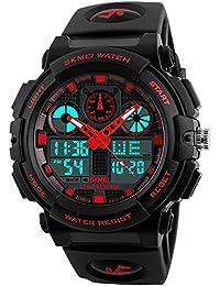 15de790d871c TONSHEN Digitales Relojes de Hombre Multifuncional Analógico Cuarzo Doble  Tiempo Deportivos Militares Táctica 50M Resistente Agua