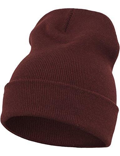 Flexfit Bonnet long Heavyweight taille unique Rouge - Marron