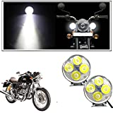 #2: Enfieldzone 4 Led Small Circle Motorcycle Light Bike Fog Lamp Light - 2 Pc For All Royal Enfield