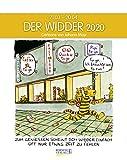 Widder 2020: Sternzeichenkalender-Cartoonkalender als Wandkalender im Format 19 x 24 cm.